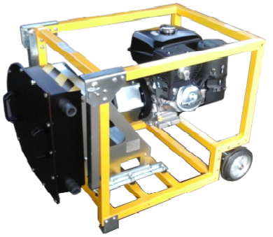 Gasoline engine driven peristaltic pump
