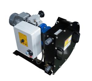 pompa peristaltica dosatrice meccanica a portata variabile e quadro elettrico pompe peristaltiche dosatrici