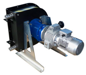 peristaltic pumps for suction and cleaning tanks arising form processing waste