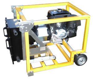 Self-priming engine driven pump for aggressive or hazardous fluids